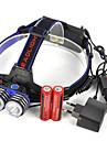 Pannlampor LED 5000lm 1 Belysning läge Professionell / Slitsäker / Lättviktig Camping / Vandring / Grottkrypning / Vardagsanvändning /
