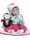 NPKCOLLECTION NPK DOLL Reborn-dukker Baby 24 inch Silikone - Gave Sødt Børnesikker Ikke Giftig Kunstig implantation Blå øjne Tippede og forseglede negle Børne Pige Legetøj Gave