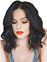 Synthetic Wig / Synthetic Lace Front Wig Wavy Kardashian Style Middle Part Lace Front Wig Black Natural Black Dark Brown Synthetic Hair Women\'s Adjustable / Heat Resistant / Natural Hairline Black Wig