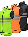 WOSAWE Men\'s Sleeveless Cycling Vest - Green Black Orange Solid Color Bike Vest / Gilet Windbreaker Jersey Windproof Reflective Strips Back Pocket Sports Polyster Mountain Bike MTB Road Bike Cycling