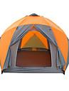 -8 אנשים אוהל חיצוני עמיד למים מוגן מגשם עמיד ללחות שכבה כפולה עמוד Dome קמפינג אוהל 2000-3000 mm ל צעידה קמפינג לטייל פיברגלס אוקספורד 380*330*195 cm