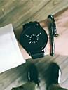 Ανδρικά Ρολόι Φορέματος Ρολόι Καρπού Χαλαζίας Δέρμα Μαύρο / Λευκή 30 m Νεό Σχέδιο Απίθανο Αναλογικό Κλασσικό Βίντατζ Καθημερινό - Λευκό Μαύρο Μαύρο / Λευκό Ενας χρόνος Διάρκεια Ζωής Μπαταρίας