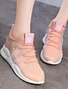 نسائي أحذية رياضية أحذية عارضة مطاط لياقة بدنية ركض متنفس خفيف جدا (UL) الجلود الاصطناعية أبيض أسود زهري