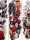 3 pcs midlertidige Tatoveringer Dyre Serier / Blomster Serier Glatt klistremerke / OEkovennlig / Til engangsbruk kropps~~POS=TRUNC arm / Decal-stil midlertidige tatoveringer