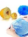 6pcs univerzalni silikon za zamotavanje hrane poklopac-zdjelu silikon poklopac pan kuhinje vakuum poklopac brtvilo