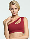 Women's One Shoulder Bra Top Blue Pink Burgundy Sports Solid Color Cotton Sports Bra Zumba Dance Running Activewear Breathable 3D Pad Anatomic Design Stretchy