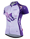 Malciklo Women\'s Cycling Jersey - Purple Butterfly Plus Size Bike Jersey Clothing Suit Sports Polyester Coolmax® Butterfly Mountain Bike MTB Road Bike Cycling Clothing Apparel / Quick Dry / Advanced