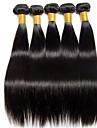 6 Buendel Indisches Haar Glatt 8A Echthaar Menschenhaar spinnt One-Pack-Loesung Echthaar Haarverlaengerungen 8-28 Zoll Naturfarbe Menschliches Haar Webarten Einfache Valentin Kreativ Haarverlaengerungen