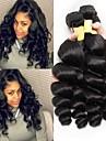 3 Bundler malaysisk hår Bølget 8A Ubehandlet Menneskehår Menneskehår, Bølget Udvidelse 8-28 inch Naturlig Menneskehår Vævninger Bedste kvalitet Hot Salg Til sorte kvinder Menneskehår Extensions Dame