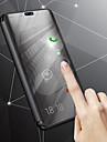 Capinha Para Samsung Galaxy J8 / J6 Com Suporte / Galvanizado / Espelho Capa Protecao Completa Solido Rigida PU Leather para J8 / J7 Duo / J6