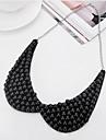 Pentru femei Perle Guler - Imitație de Perle, Perlă neagră Elegant Alb, Negru Coliere Pentru Nuntă, Petrecere, Zi de Naștere