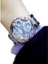Women\'s Wrist Watch Quartz Silver / Gold Chronograph Luminous Lovely Analog Ladies Flower Elegant - Gold Silver / Imitation Diamond