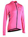 21Grams Dames Lange mouw Wielrenshirt - Roze Gestreept Fietsen Shirt, Reflecterende strips Achterzak 100% Polyester / Micro-elastisch / Gevorderd / YKK rits / Italie geimporteerde inkt