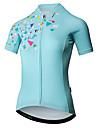 Mysenlan Women\'s Short Sleeve Cycling Jersey - Mint Green Bike Jersey Sports Polyester Mountain Bike MTB Road Bike Cycling Clothing Apparel / YKK Zipper
