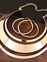 Γυναικεία Κοίλο Κοσμήματα Σετ Μοντέρνο, κυρίες, Απλός, Ευρωπαϊκό Περιλαμβάνω Κρίκοι Κρεμαστό Χρυσό / Ασημί Για Βραδινό Πάρτυ / Cercei