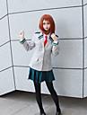 Inspirat de My Hero Academia / Boku Nu Academia Hero Ochaco Uraraka / Școlărițe / JK Uniform Anime Costume Cosplay Costume Cosplay Mată / Anime Geacă / Cămașă / Fustă Pentru Pentru femei