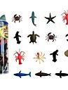 Animais de Brinquedo Animal marinho Animais Borracha Criancas Todos Para Meninos Para Meninas Brinquedos Dom 15 pcs