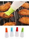 Silicone Baking Tool High Temperature Flat Bottomed Oil Bottle Brush Environmental Protection Heat Oil Brush BBQ Tool Random