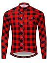 WOSAWE Heren Wielrenshirt - Zwart / rood Fietsen T-shirt Shirt Kleding Bovenlichaam Reflecterende strips Achterzak Sport Polyester Taft Bergracen Wegwielrennen Kleding / Rekbaar