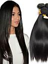 4 Buendel Malaysisches Haar Glatt 8A Echthaar Menschenhaar spinnt Erweiterung Bundle Haar 8-28 Zoll Naturfarbe Menschliches Haar Webarten seidig Sanft Haarverlaengerungen Damen