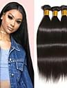 3 Bundler Peruviansk hår Lige 8A Menneskehår Menneskehår, Bølget Udvidelse Bundle Hair 8-28 inch Naturlig Naturlig Farve Menneskehår Vævninger Silkeagtig Glat Bedste kvalitet Menneskehår Extensions