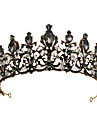 Black Swan Crown Gothic Lolita Baroque Elegant Hoop Earrings Tiaras Forehead Crown For Party Evening Prom Wedding Party Women\'s Girls\' Crystal 1 Pair of Earrings Crown Earrings Black Costume Jewelry