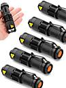 SK68 Lampes Torches LED LED Cree® XR-E Q5 1 Emetteurs 2000 lm 3 Mode d\'Eclairage Fonction Zoom Impermeable Faisceau Ajustable Camping / Randonnee / Speleologie Usage quotidien Police / Militaire 6pcs