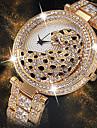 Жен. Наручные часы Diamond Watch золотые часы Японский Японский кварц Нержавеющая сталь Серебристый металл / Золотистый 30 m Творчество Новый дизайн Cool Аналоговый Дамы Роскошь Мода - / Два года
