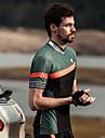 SANTIC Men\'s Short Sleeve Cycling Jersey - White Green Bike Jersey Top Breathable Sports Elastane Terylene Mountain Bike MTB Road Bike Cycling Clothing Apparel / Stretchy / Breathable Armpits