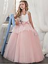 Cinderella Prinsesse Kostume Jente Barne Kjoler Party-kostyme Lilla / Roed / Rosa Vintage Cosplay Ermeloes T-skjorte
