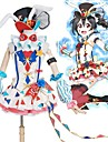 Esinlenen Canlı Aşk Cosplay Anime Cosplay Kostümleri Cosplay Takımları Zıt Renkli Elbise / Fiyonk / Daha Fazla Aksesuarlar Uyumluluk Erkek / Kadın\'s
