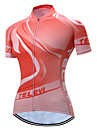 TELEYI Women\'s Short Sleeve Cycling Jersey Orange Plus Size Bike Jersey Top Breathable Moisture Wicking Quick Dry Sports Polyester Mountain Bike MTB Road Bike Cycling Clothing Apparel / Stretchy