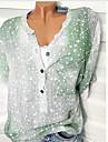 Mulheres Tamanhos Grandes Camisa Social Basico Solido Delgado Verde XXXL