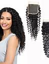 שיער ברזיאלי 4x4 סגר / חלק חינם מתולתל חלק חינם תחרה שווייצרית שיער בתולי בגדי ריקוד נשים משיי / הגעה חדשה / עבה Party / מתנה / אימון / שחור