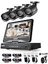 sannce® 8ch 4pcs 720p lcd dvr systeme de securite de surveillance resistant aux intemperies supporte ahd tvi ip camera analogique