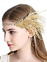 The Great Gatsby Vintage 1920s The Great Gatsby Roaring 20s Costume Women\'s Headpiece Flapper Headband Head Jewelry Black / Golden Vintage Cosplay Party Prom