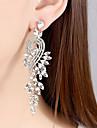 Pentru femei Transparent Zirconiu Cubic Eliminat Cercei cercei Stilat Bijuterii Auriu / Argintiu Pentru Nuntă Petrecere 1 Pair