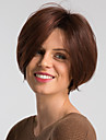Human Hair Capless Parykker Menneskehår Naturlig lige Pixie frisure Moderigtigt Design / Nem dressing / Bekvem Burgundy Kort Lågløs Paryk Dame / Ombre-hår / Natural Hairline
