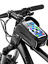 ROCKBROS Cell Phone Bag / Bike Frame Bag 6 inch Waterproof, Portable Cycling for iPhone X / iPhone XR / iPhone XS Black
