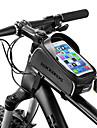 ROCKBROS Sac de telephone portable / Sac de cadre de velo 6 pouce Etanche, Portable Cyclisme pour iPhone X / iPhone XR / iPhone XS Noir