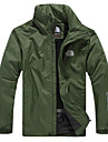 Men\'s Hiking Windbreaker Outdoor Lightweight Windproof Quick Dry Wearable Jacket Top Single Slider Everyday Use Traveling Mountaineering Black / Dark Blue / Green