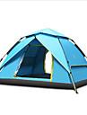 4 osoby Rodinné kempování stan Outdoor Větruvzdorné Odolné vůči dešti Prodyšnost dvouvrstvé Automatický Camping Tent 2000-3000 mm pro Kempování a turistika Skleněné vlákno Tkanina Oxford 230*180*130