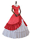 Princess Rococo Victorian 18th Century Costume Women\'s Dress Party Costume Costume Red Vintage Cosplay Masquerade Party & Evening Short Sleeve Off Shoulder Floor Length Long Length Plus Size