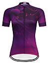 TELEYI Dame Kortærmet Cykeltrøje - Lilla Cykel Trøje Toppe Hurtigtørrende Sport Terylene Bjerg Cykling Vej Cykling Tøj / Mikroelastisk