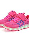 Κοριτσίστικα Παπούτσια Πλεκτό Άνοιξη / Φθινόπωρο Φωτιζόμενα παπούτσια Αθλητικά Παπούτσια Περπάτημα Αγκράφα / LED για Παιδιά Μπλε / Ροζ / Μαύρο / Κόκκινο