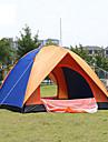 4 osoby Rodinné kempování stan Outdoor Prodyšnost Nositelný dvouvrstvé Automatický Camping Tent 2000-3000 mm pro Piknik Skleněné vlákno 200*200*135 cm