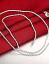 Ανδρικά Κλασσικό Κολιέ με Αλυσίδα Επάργυρο Κλασσικό Μοντέρνα Απίθανο Ασημί 61 cm Κολιέ Κοσμήματα 1pc Για Καθημερινά Δουλειά