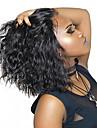 Cappelli veri Lace frontale Parrucca Taglio medio corto Breve Bob Rihanna stile Brasiliano Ondulato naturale Parrucca 130% Densita dei capelli con i capelli del bambino Attaccatura dei capelli