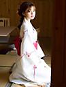 게이샤 어른\' 여성용 키모노 의상 기모노 목욕 가운 제품 Halloween 일상복 제전 면 / 린넨 혼방 기모노 코트 허리띠