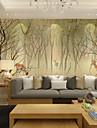 ταπετσαρία / Τοιχογραφία Καμβάς Κάλυψης τοίχων - κόλλα που απαιτείται Ζωγραφιά / Δέντρα / Φύλλα / Art Deco